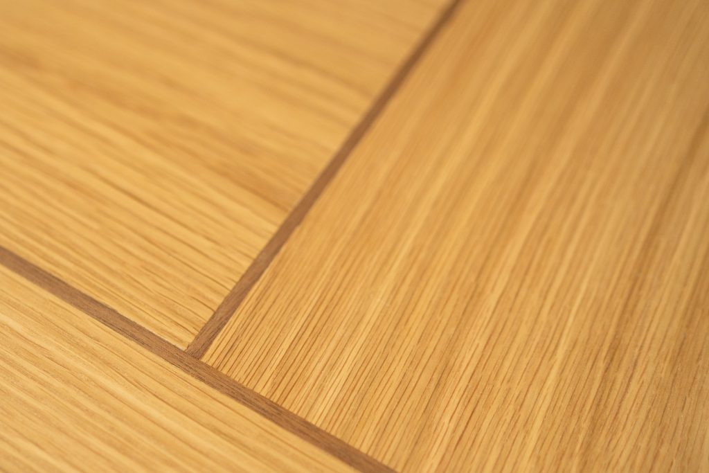 Special Horizontal and Vertical panelled Veneers with Walnut Inlays