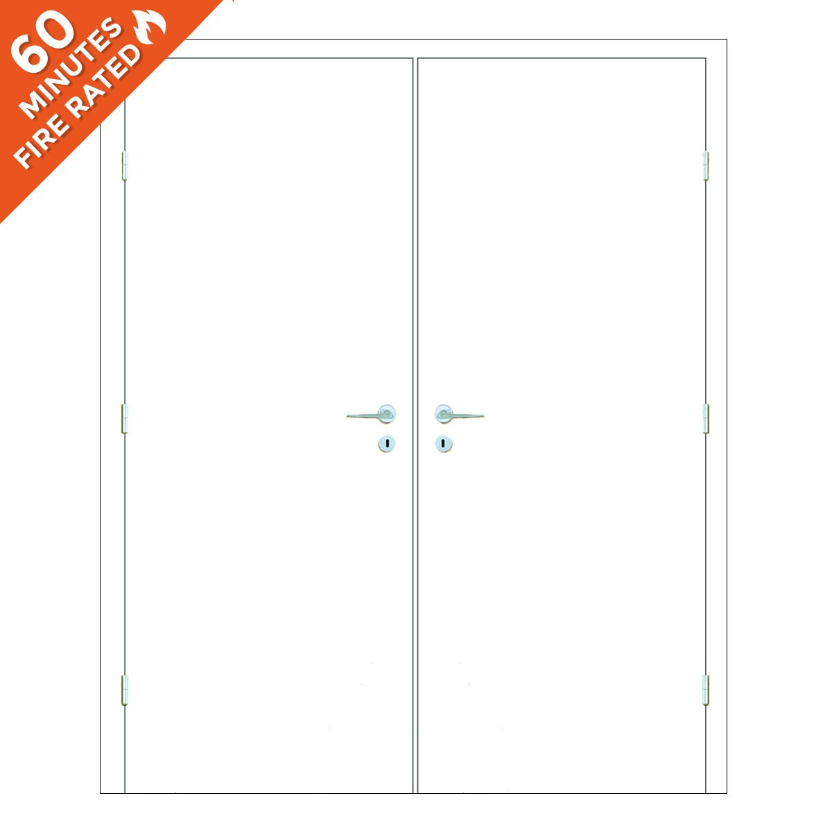 Paint Grade Double Door FD60