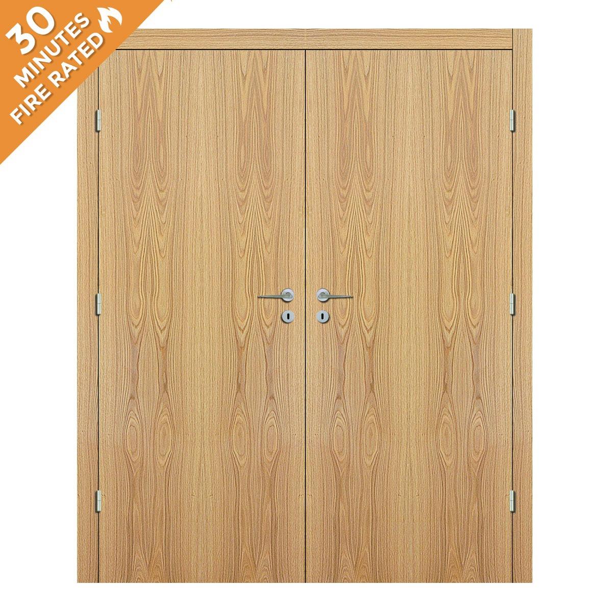 White Oak Double Door FD30