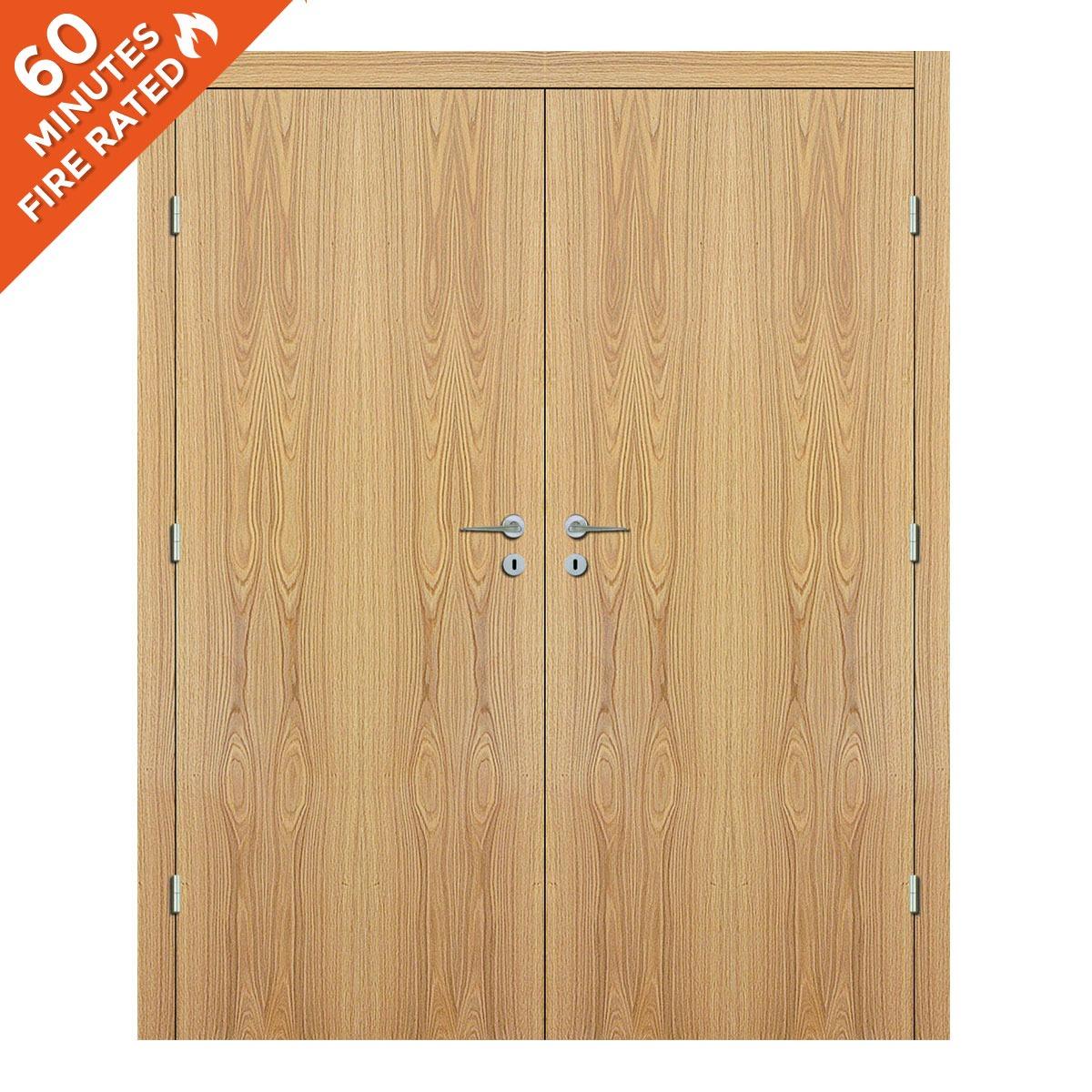 White Oak Double Door FD60