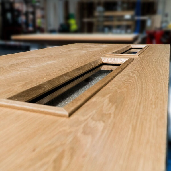 Glazing Apertures on Real Wood Veneer Door
