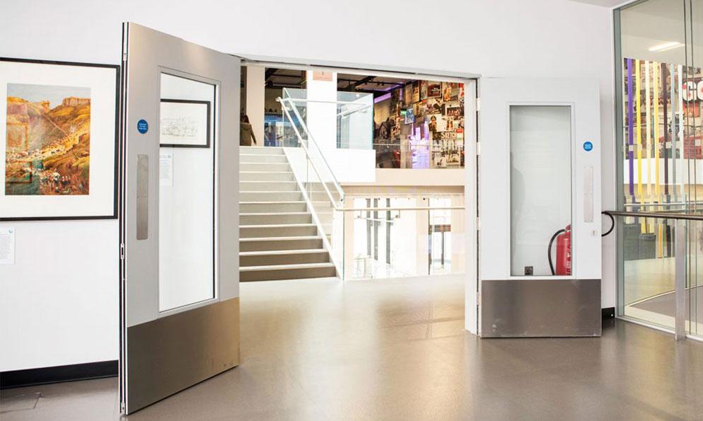 Fire Doors in Public Art Gallery