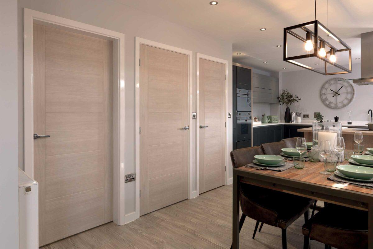 Laminate Doors in Home Setting