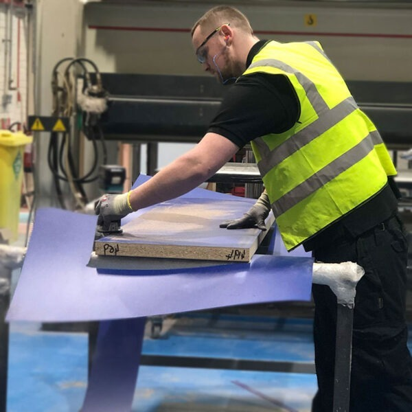 Laminate Cutting in our on-site Birmingham Factory