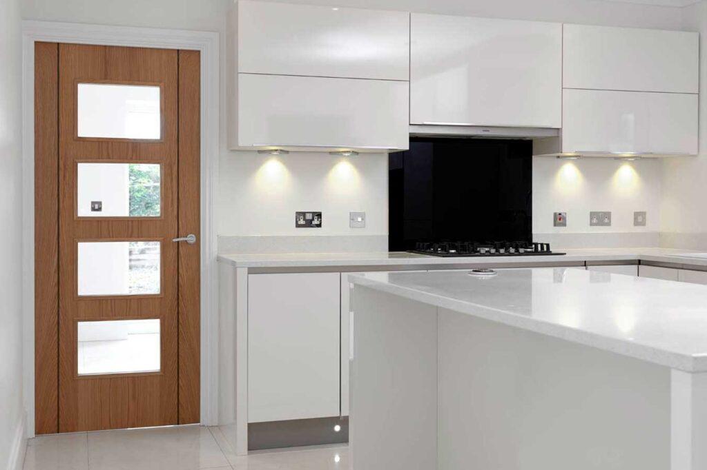 Glazed Panel Door in Kitchen