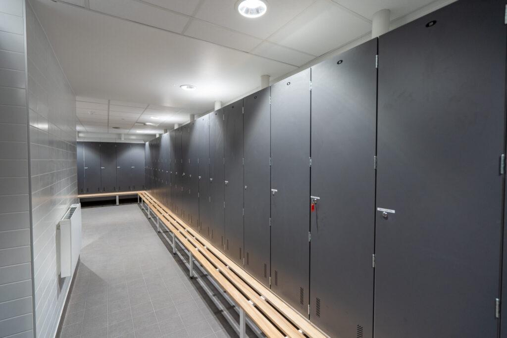 Grey Laminate Doors made for Gym