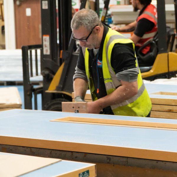 Manufacturing Team working upon bespoke timber doorsets