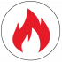 Fire Rated Properties Icon